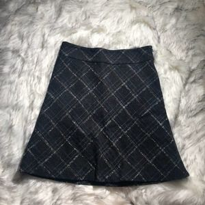 2/$20 Old Navy | checkered wool a-line skirt